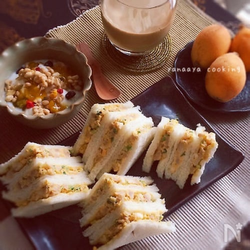 やみつき♡味付け煮玉子で卵サンド