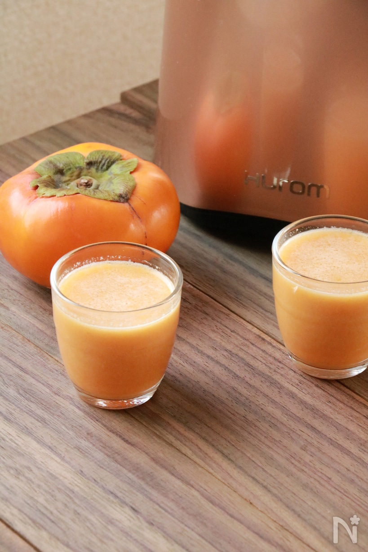 柿とアーモンドのジュース