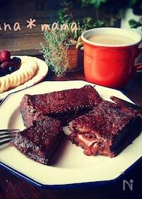 『チョコinショコラフレンチトースト♪』