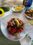 ピリッと辛い南イタリアの野菜料理「チャンボッタ」でそうめん