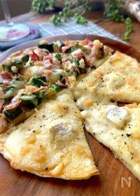 『絶品‼︎【アボガドベーコンとチーズのめんたいピザ】』