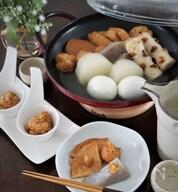 生姜味噌と柚子胡椒味噌のおでん