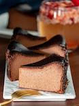 ミキサーで簡単!チョコバスクチーズケーキ