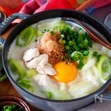 【ぽかぽか体温まる】鶏肉と明太子のピリ辛クリーミーうどん