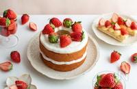 いちごのネイキッドケーキ。バームクーヘンで簡単スイーツ!