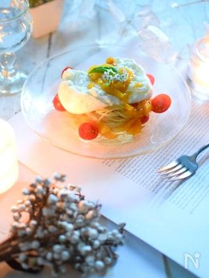 ブッラータチーズのマンゴーパスタ