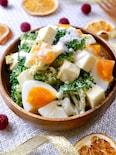 『ブロッコリーと半熟タマゴのたっぷりチーズサラダ』
