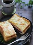 オーブンで焼くサンドフレンチトースト(お食事ver.)