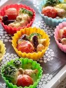 ブロッコリーとトマトのプチグラタン【作り置き】