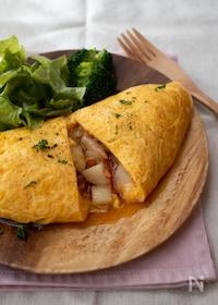 『ケチャップでお手軽!ポテトとツナのイタリアンオムレツ』