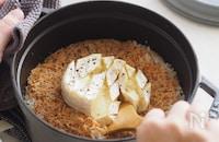 チーズとろっとろで盛り上がる!『カマンベールとえびのごはん』