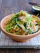 切干大根と豆苗とツナの中華風ごまマヨサラダ