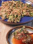 栄養満点で嬉しい♪苦手な人も食べやすい春菊と干しエビのチヂミ