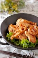 鶏と蓮根の味噌炒め、山椒風味!