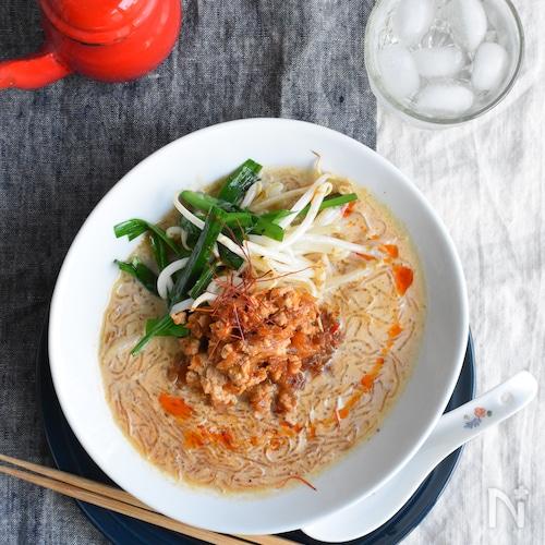 豆腐そぼろと海藻麺の糖質オフ担々麺