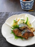 鯖のソテーカレー味