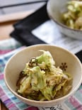 キャベツとかつお節の塩昆布サラダ【作り置き】