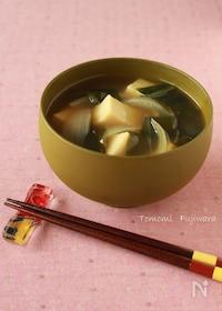 『高野豆腐のみそ汁 』