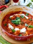 鶏肉と玉ねぎのトマトバジル煮込み
