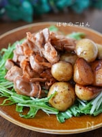甘辛でごはんがすすむ✨『豚バラと新じゃが炒め』