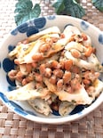 1分クッキング♡ごま油香る納豆とちくわのあおさマヨ和え