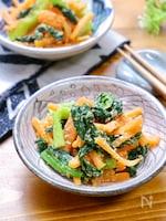 ちょこっと副菜に♪『小松菜と人参のレンチン胡麻和え』