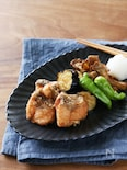 秋鮭の竜田揚げ野菜の素揚げを添えて