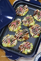 薄力粉と長芋で作る!ふわふわミニお好み焼き