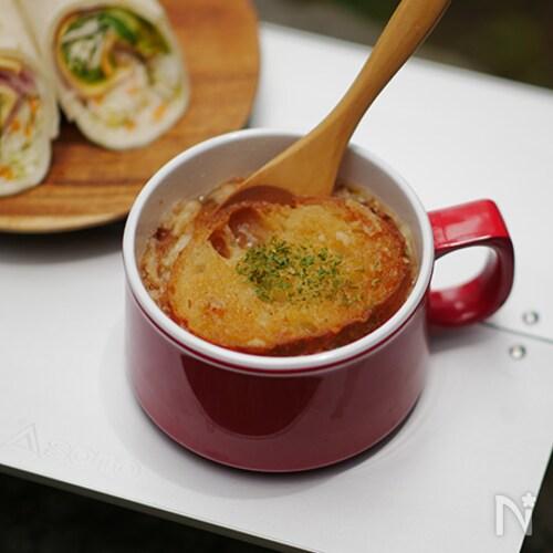 お湯を注ぐだけでできる!即席オニオングラタンスープ