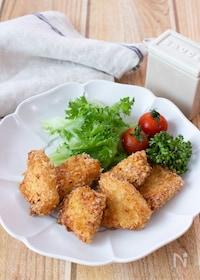 『【お弁当にも】ほんのりチーズ風味!かじきまぐろのカレーフライ』