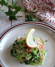 豆苗とえのき茸のペペロンチーノ