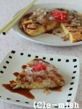 納豆のお好み焼き風オムレツ