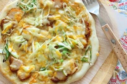 焼豚とねぎのマヨポンピザ
