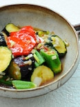 夏野菜の風味のエスニック揚げ浸し