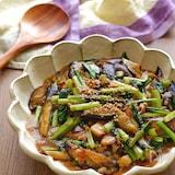 なすと小松菜とひき肉のとろみ煮【とろみ付け簡単!失敗なし!】