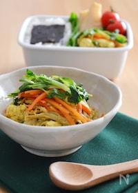 『肉なし!カレー風味のいり豆腐。ボリューミーな節約おかず♪』