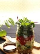 豆といろいろ野菜のジャーサラダ★粒マスタード風味