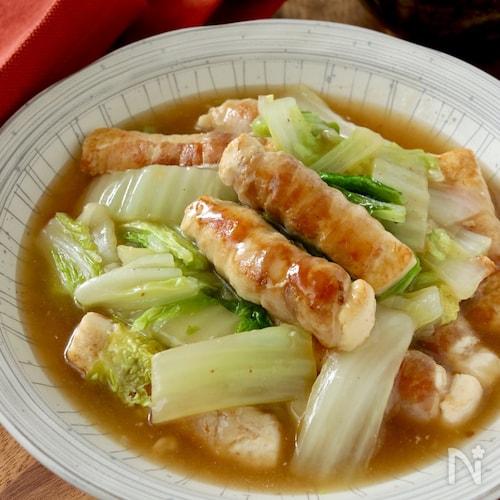 豆腐でかさまし*豚バラ豆腐と白菜の中華うま煮