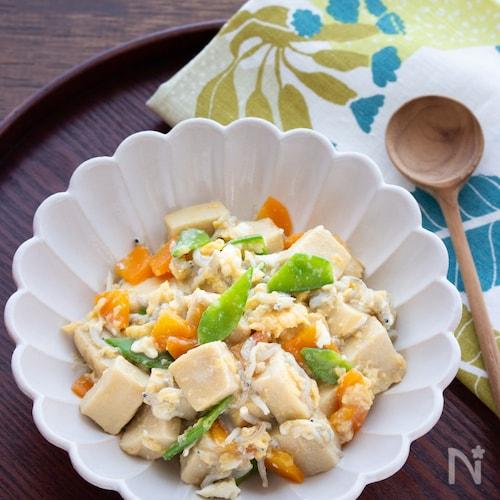 【味付け2つ】しっとり食べやすい!高野豆腐の炒り豆腐