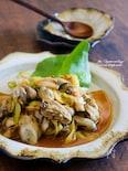 牡蠣のピリ辛炒め。