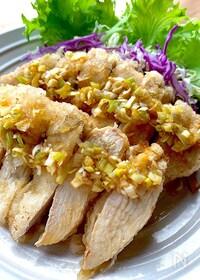 『サクッとジュワッと鶏むね肉の白唐揚げ〜油淋鶏ソース〜』