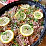 絶品‼︎【豚とたっぷり野菜蒸しごまレモン】蒸すだけ簡単