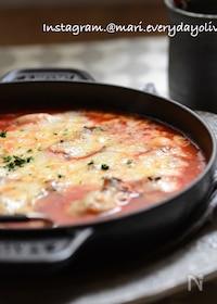 『オーブン放置♪トマトに溺れる牡蠣グラタン〜決め手は隠し味♪』