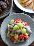 ぶどうとトマトと青魚のマリネ。