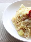 ツナとキャベツのさっぱり生姜ペペロンチーノ