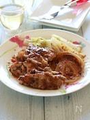 豚こまと白菜のハニーマスタードソース