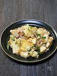 豆腐と豚肉の塩ネギチャンプル