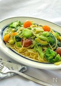 『アボカドとしらすと色々野菜のパスタ』