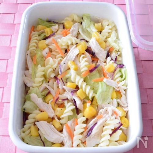 鶏のささみとコーンのマカロニサラダ 作り置きレシピ