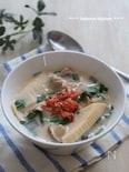 ダイエットにもおすすめ!たけのこときのこの豆乳キムチスープ